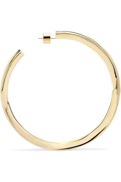Jennifer Fisher Reverse Gold-plated Hoop Earrings OSfHYJ
