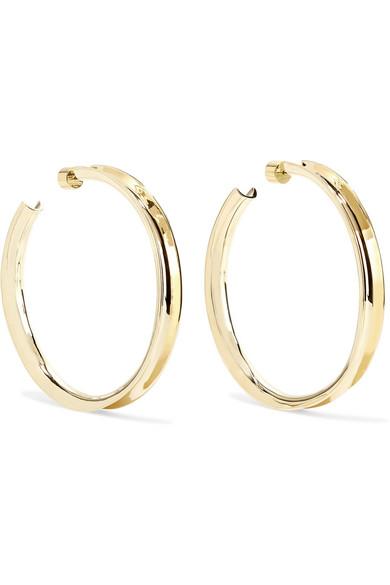 Jennifer Fisher - Reverse Gold-plated Hoop Earrings