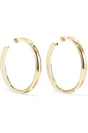 Reverse gold-plated hoop earrings