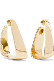 Hammock gold-plated earrings