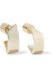 Pod gold-plated hoop earrings