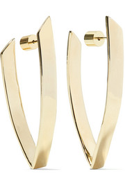 Pod gold-plated earrings
