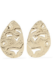 Lake gold-plated earrings