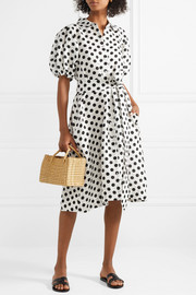Lisa Marie Fernandez Polka-dot linen midi dress