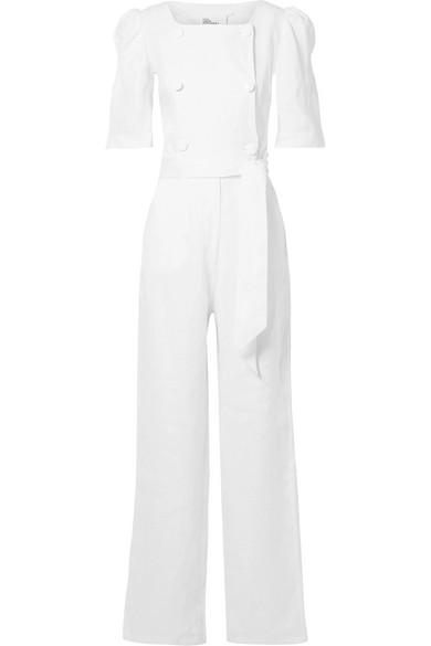 DIANA DOUBLE-BREASTED LINEN JUMPSUIT