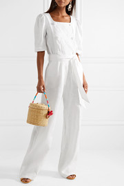Lisa Marie Fernandez Diana double-breasted linen jumpsuit