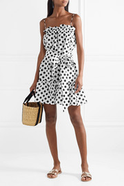 Lisa Marie Fernandez Liz polka-dot linen mini dress
