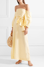 Lisa Marie Fernandez Rosie off-the-shoulder linen maxi dress
