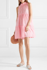 Lisa Marie Fernandez Erica ruffled broderie anglaise cotton mini dress