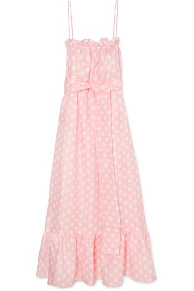 8c18d07c7d Lisa Marie Fernandez. Liz polka-dot linen maxi dress