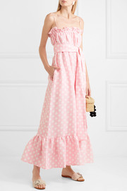 Lisa Marie Fernandez Liz polka-dot linen maxi dress