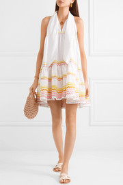 Lisa Marie Fernandez Ava Lily tiered linen mini dress