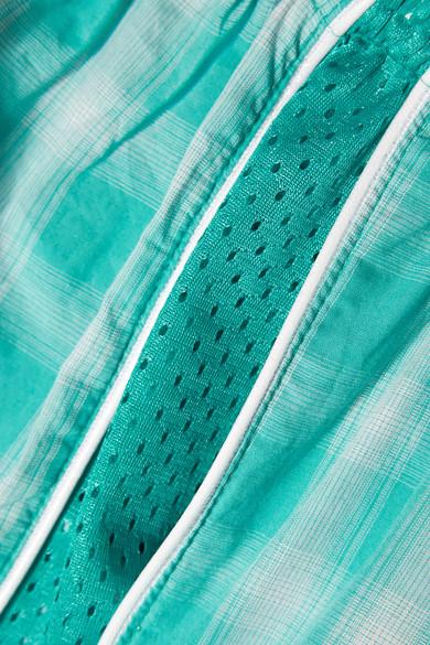 Paradised Aina Shorts aus Baumwoll-Gaze mit Mesh-Einsätzen