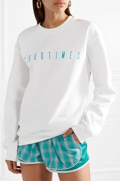 Paradised Palms Sweatshirt aus Fleece aus einer Baumwollmischung mit Print