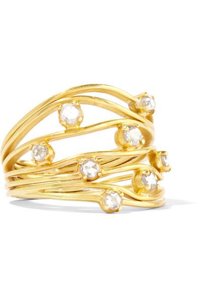 PIPPA SMALL 18-KARAT GOLD DIAMOND RING
