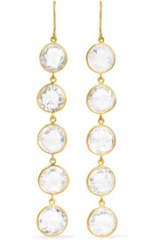 Pippa Small 18-karat gold crystal earrings