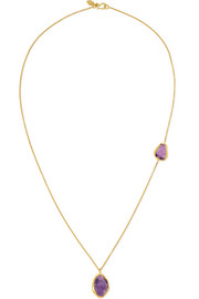 18-karat gold amethyst necklace