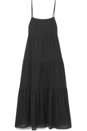 Tiered cotton-voile maxi dress