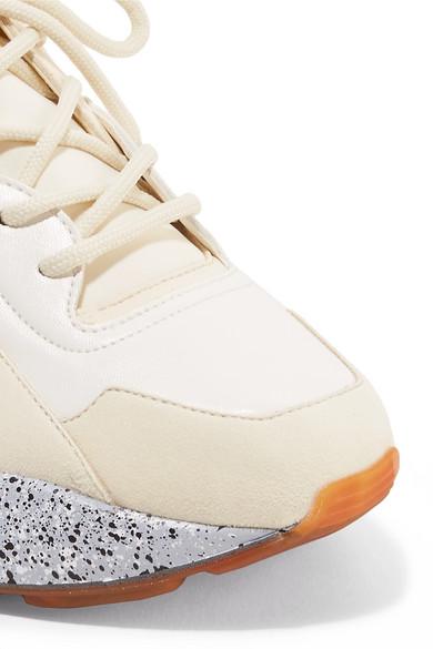 Stella McCartney Eclypse Sneakers aus Kunstleder und Velourslederimitat mit Neoprenbesatz