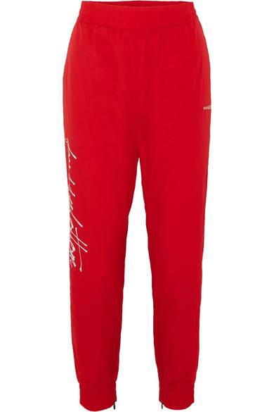 PUSHBUTTON PRINTED SHELL TRACK PANTS