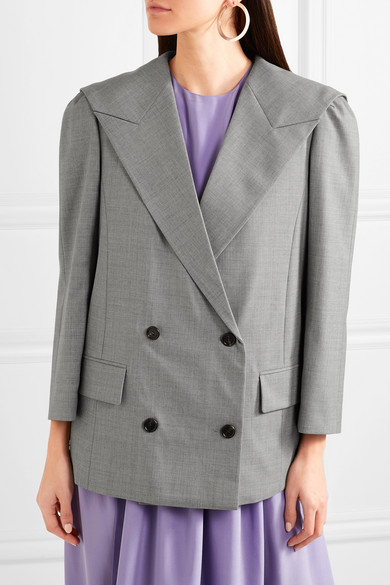 Pushbutton Doppelreihiger Oversized-Blazer aus Wolle