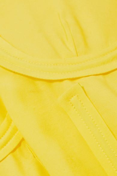Pushbutton Bluse aus Crêpe mit Gürtel