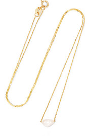 14-karat gold freshwater pearl necklace