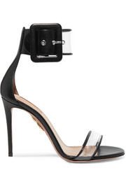 Seduction PVC and leather sandals