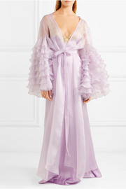 Casino Royale ruffled silk-organza robe