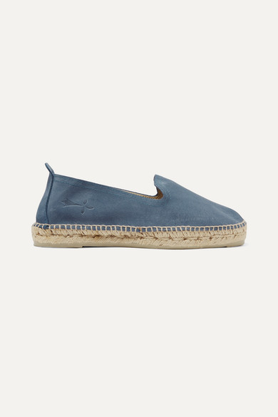 MANEBI ESPADRILLAS MANEBÍ HAMPTONS IN BLUE SUEDE AND JUTE.
