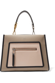 Fendi Runway small color-block leather tote
