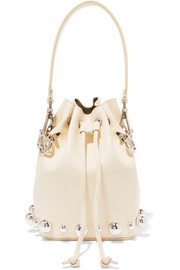 Fendi Mon Tresor embellished leather bucket bag