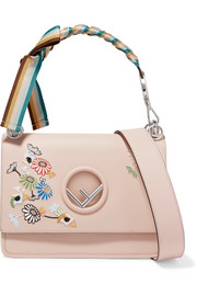 Fendi Kan I embellished leather shoulder bag