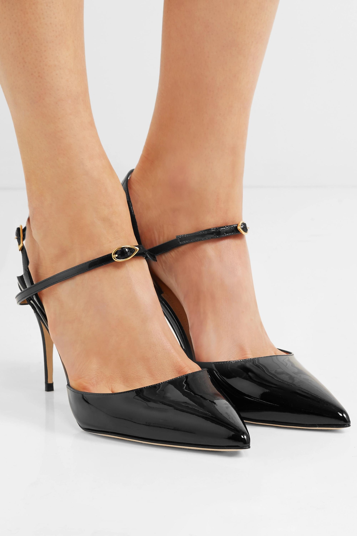 Black Vittorio 90 patent-leather