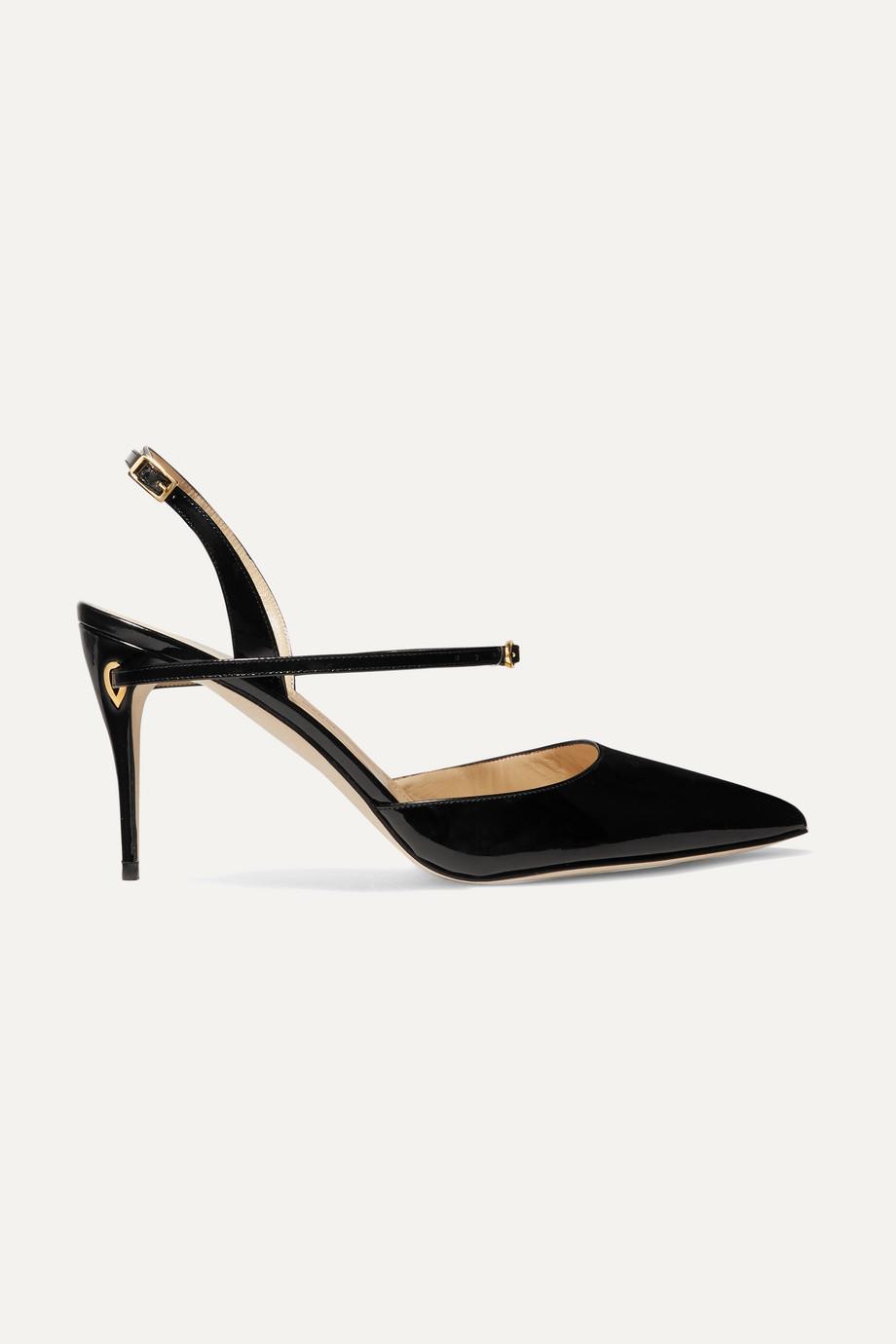 Jennifer Chamandi Vittorio 90 patent-leather slingback pumps