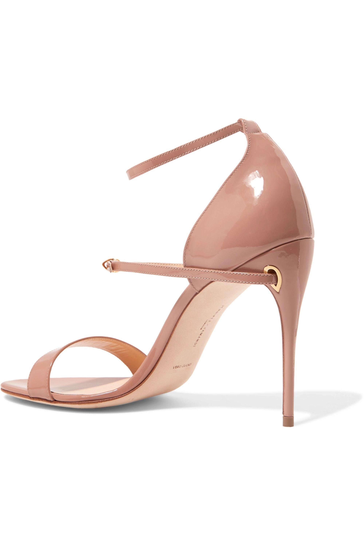 Jennifer Chamandi Rolando 105 patent-leather sandals