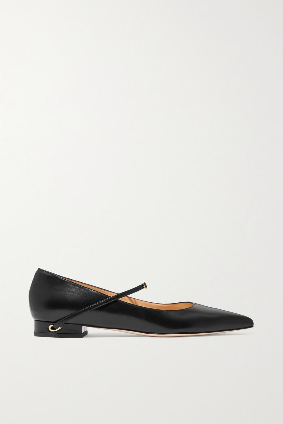 Jennifer Chamandi Lorenzo 皮革尖头平底鞋