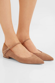 Lorenzo suede point-toe flats