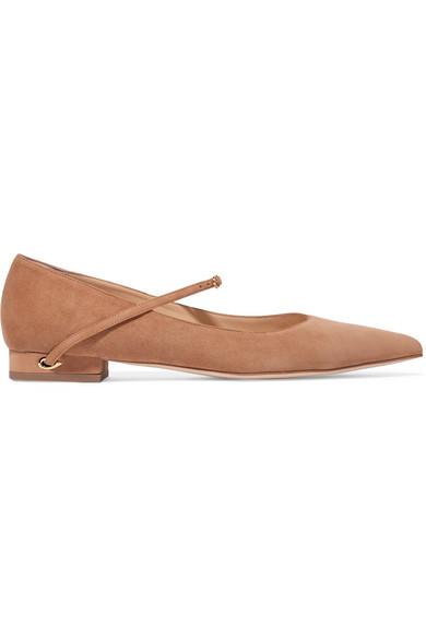 Chaussures Plates à Bouts Pointus En Daim Lorenzo - SableJennifer Chamandi ljS58