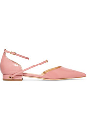 Enrico patent-leather point-toe flats