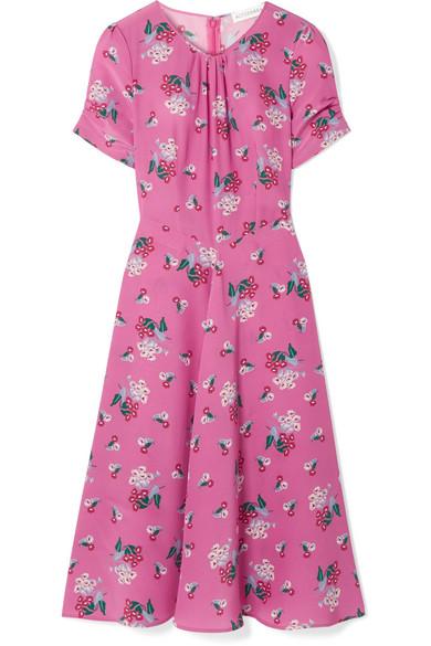 Tuesday floral-print silk crepe de chine dress