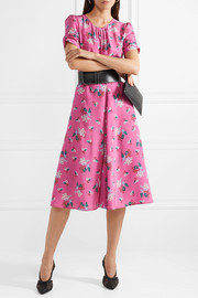 Tuesday floral-print silk crepe de chine dress