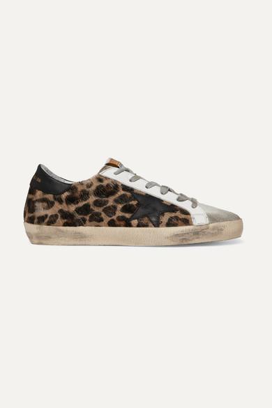 8c31c841df6cb Golden Goose. Superstar distressed leopard-print calf hair