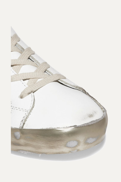 Golden Goose Deluxe Leder Brand | Superstar Sneakers aus Leder Deluxe in Distressed-Optik 534a90