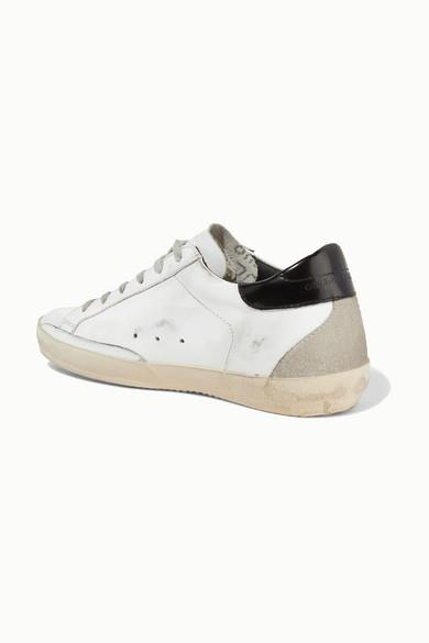 Golden Goose und Deluxe Brand | Superstar Sneakers aus Leder und Goose Veloursleder in Distressed-Optik 25eeba