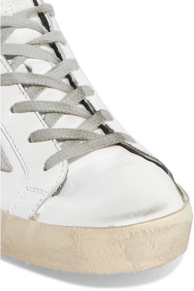 Golden Goose Deluxe Brand Leder | Superstar Sneakers aus Leder Brand und Veloursleder in Distressed-Optik 569757