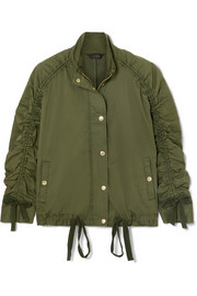 J.Crew Ruched stretch-cotton jacket