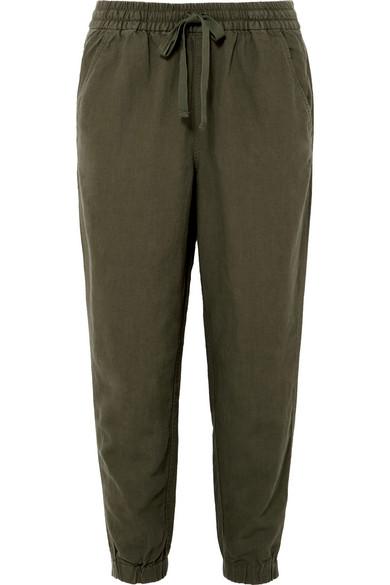 J.Crew - Seaside Linen-blend Pants - Army green