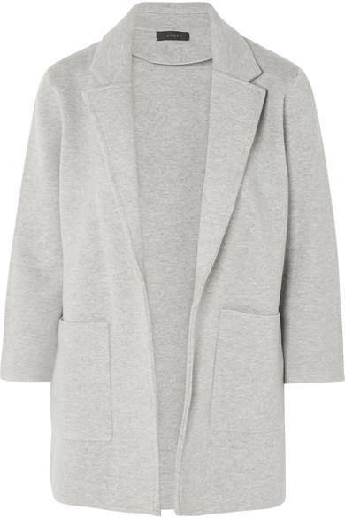 J.Crew - Hannah Knitted Cotton-blend Blazer - Gray