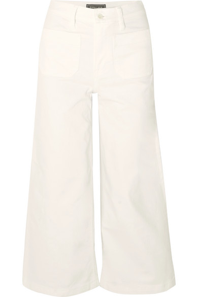 J.Crew - Cropped High-rise Wide-leg Jeans - White